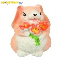 Копилка «Кролик с цветком» большой