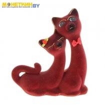 Копилка «Кошки Сладкая Пара» бордовый
