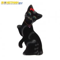 Копилка «Кошка лапушка» черный