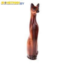 Копилка «Кот» большой глазурь коричневый