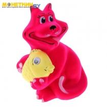 Копилка «Кот с рыбой» розовый