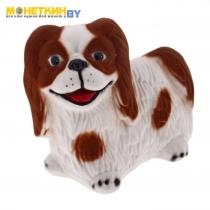 Копилка «Собака Пекинес» белокоричневый