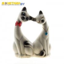 Копилка «Влюбленная пара» малая белая