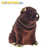 Копилка «Собака Шарпей» большой коричневый