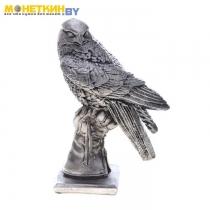 Копилка «Сокол на руке» антик серебро